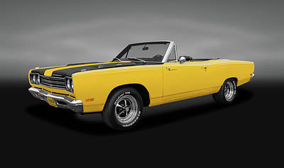 Photograph - 1969 Plymouth Road Runner  -  1969plymouthroadrunnercvgray153293 by Frank J Benz