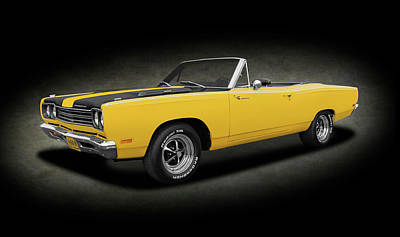 Photograph - 1969 Plymouth Road Runner  -  1969plymouthroadrunnerspttxt153293 by Frank J Benz