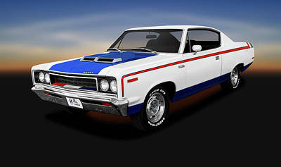 Photograph - 1970 Amc Rebel Machine Hardtop  -  1970amcrebelmachine2drhdtp141885 by Frank J Benz