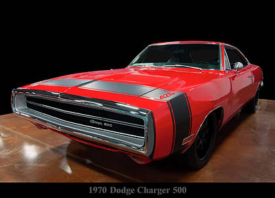 Photograph - 1970 Dodge Charger 500 by Chris Flees