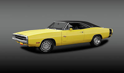 Photograph - 1970 Dodge Charger R/t  -  1970rtdodgechargergray142431 by Frank J Benz