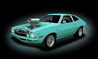 Photograph - 1970 Ford Pinto Supercharged 2 Door Coupe   -   1970blownfordpintospottext166971 by Frank J Benz