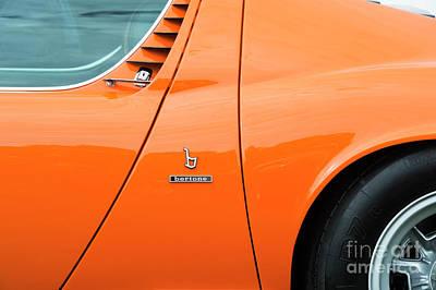 Photograph - 1970 Lamborghini Miura Abstract by Tim Gainey
