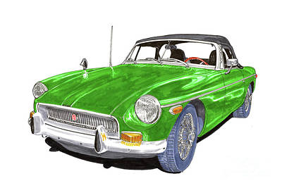 Painting - 1970 M G B  Roadster by Jack Pumphrey
