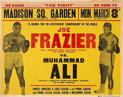 Sports Paintings - 1971 Muhammad Ali vs Joe Frazier I On Site Fight Poster by Celestial Images