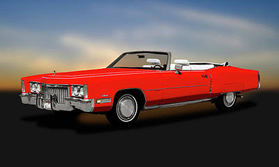 Photograph - 1972 Cadillac Eldorado Convertible   -   1972cadillaceldoradoconvert185972 by Frank J Benz