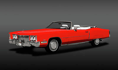 Photograph - 1972 Cadillac Eldorado Convertible  -  1972cadillaceldoradocvgray185972 by Frank J Benz