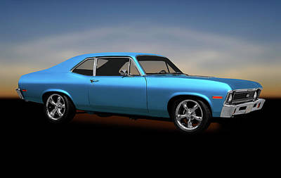 Photograph - 1972 Chevrolet Nova Super Sport  -  1972chevroletsupersportnovahdtp170749 by Frank J Benz