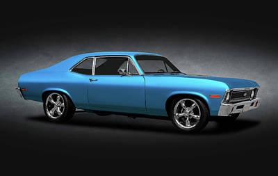 Photograph - 1972 Chevrolet Nova Super Sport  -  1972chevynovass383strokerspttext170749 by Frank J Benz