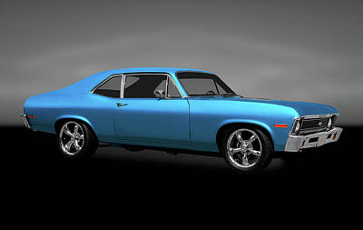 Photograph - 1972 Chevrolet Nova Super Sport  -  1972chevynovasupersportgray170749 by Frank J Benz