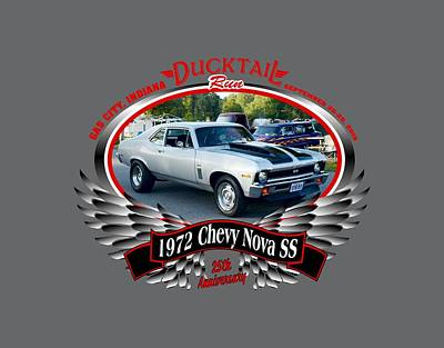 Photograph - 1972 Chevy Nova Ss Pruitt by Mobile Event Photo Car Show Photography