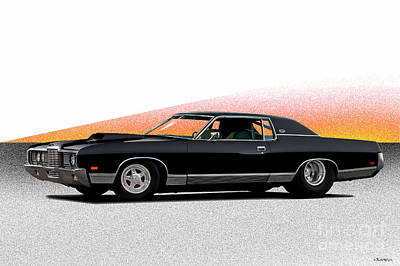 Space Photographs Of The Universe - 1972 Ford LTD429 Brougham by Dave Koontz
