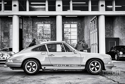 Photograph - 1972 Porsche 911 Monochrome by Tim Gainey
