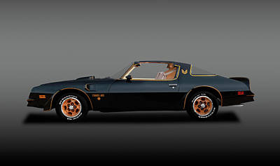 Photograph - 1976 Pontiac Firebird Trans Am  -  76pontiacfirebirdtransamttopgray196291 by Frank J Benz