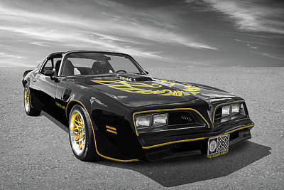 Photograph - 1976 Trans Am Black And Gold by Gill Billington