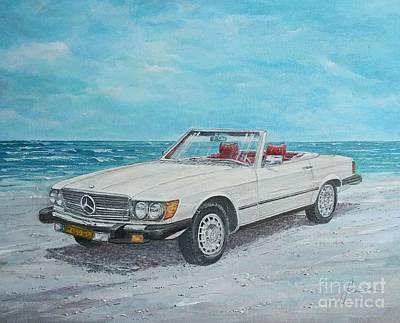 Painting - 1979 Mercedes 450 Sl by Sinisa Saratlic