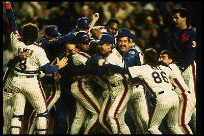 Photograph - 1986 World Series Mets by T.g. Higgins