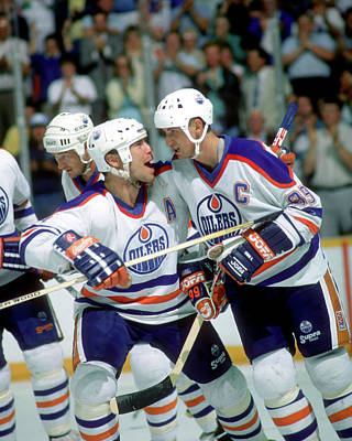 Photograph - 1988 Stanley Cup Finals Boston Bruins V by B Bennett