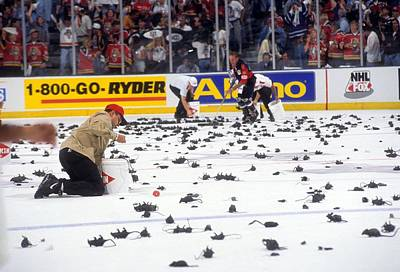Photograph - 1996 Stanley Cup Finals - Game 3 by B Bennett