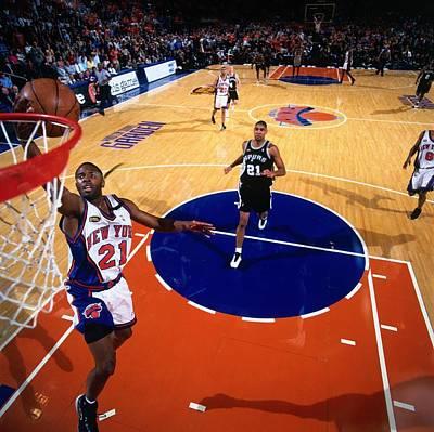 Photograph - 1999 Nba Finals Game 4  San Antonio by Nathaniel S. Butler