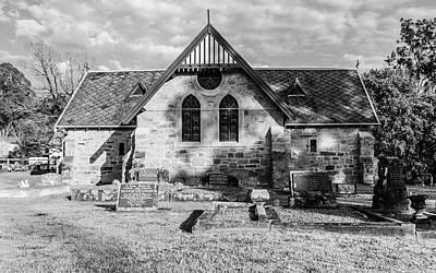 19th Century Sandstone Church In Black And White Art Print