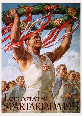 Painting - 1st Nationwide Spartakiad Czechoslovakia 1955 by Unknown