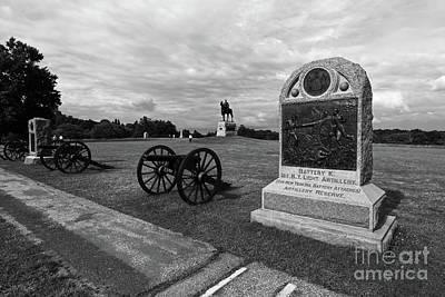 Photograph - 1st New York Battery K Monument Hancock Avenue Gettysburg by James Brunker