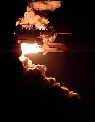 Travel - 1999  the Space Shuttle Columbia launched from Kennedy Space Center by Celestial Images