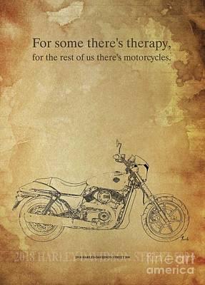 Katharine Hepburn - 2018 Harley-Davidson Street 500, Original Artwork. Motorcycle quote by Drawspots Illustrations