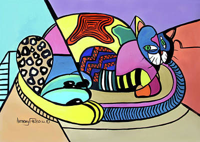 Painting - A Cat Named Picasso by Anthony Falbo