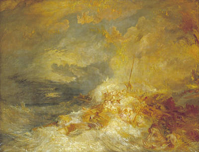 Painting - A Disaster At Sea by Joseph Mallord William Turner