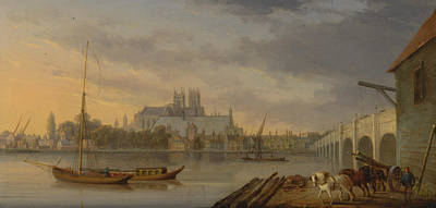 Painting - A View Of Westminster Bridge And The Abbey From The South Side by William Anderson