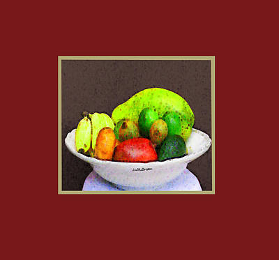 Digital Art - Abstract Fruit Art   103 by Miss Pet Sitter