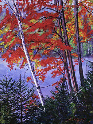 Impressionism Paintings -  Algonquin Lake Fall by David Lloyd Glover