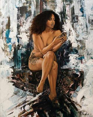 Painting - Angelica by Andres Alvarez
