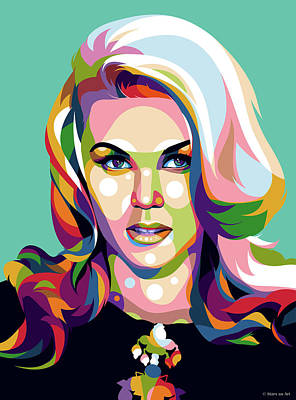 Day Of The Dead Inspired Paintings - Ann-Margret by Stars on Art