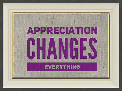 Digital Art - Appreciation Changes Everything by Clive Littin