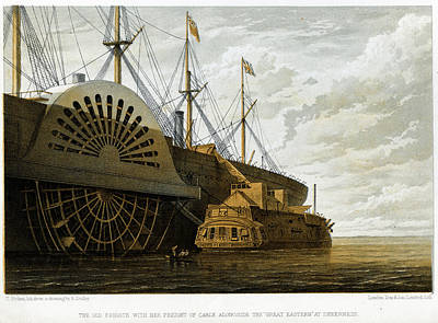 Atlantic Cable Laying Art Print by Kean Collection