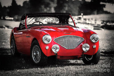 Photograph - Austin Healey 100 by Adrian Evans