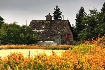 Photograph - Autumn Barn  by David Matthews