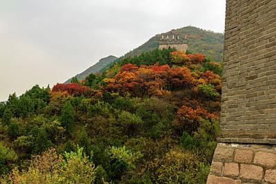 Photograph - Autumn, Great Wall Of China by Aashish Vaidya