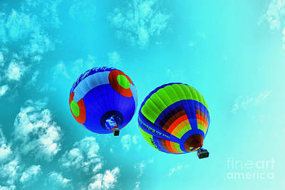 Royalty-Free and Rights-Managed Images - 2 balloons Rising by Jeff Swan