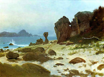 Photograph - Bay Of Monterey by Albert Bierstadt