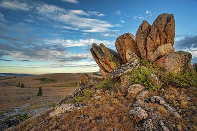 Photograph - Bighorn Granite  by Leland D Howard