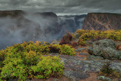 Photograph - Black Canyon Of The Gunnison Painted Wall by Richard Raul Photography