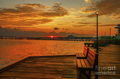 Photograph - Boardwalk Sunrise by Tom Claud