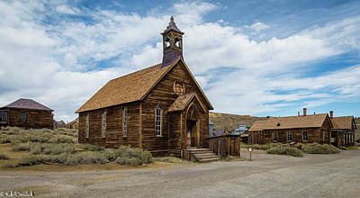 Photograph - Bodie Church by Mike Ronnebeck