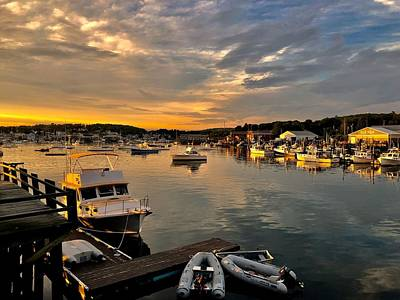 Going Green - Boothbay Sunset by Lois Lepisto