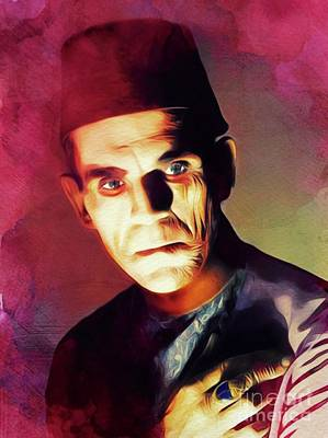 Royalty-Free and Rights-Managed Images - Boris Karloff, Hollywood Legend by Esoterica Art Agency