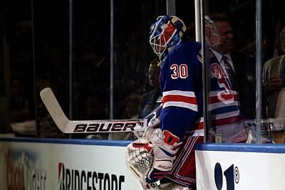 Photograph - Boston Bruins V New York Rangers - Game by Bruce Bennett
